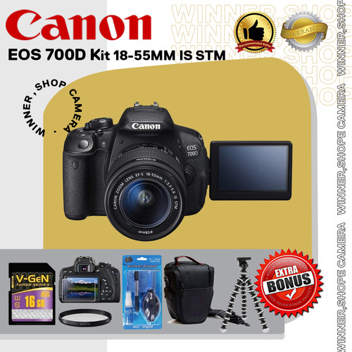 Foto Produk Canon EOS 700D Kit 18-55MM IS STM / Canon 700D / EOS 700D dari winner,shop camera