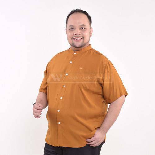 Foto Produk Kemeja Kerah Shanghai Lengan Pendek Bigsize Pria Jumbo Besar XL XXL - MUSTARD, XL dari WGB