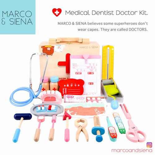 Foto Produk Mainan Anak Dokter Kayu MNS Medical Dentist Doctor Kit   Edukatif dari Marco Siena Official