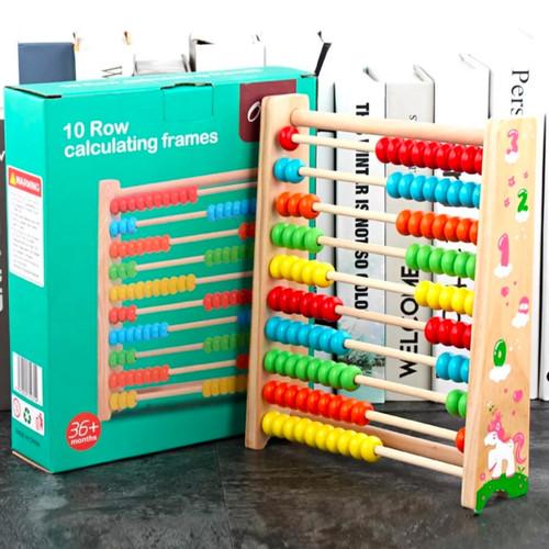 Foto Produk Mainan Edukasi Anak Alat Berhitung Abacus/Sempoa Beads Warna Warni dari lovely kayy