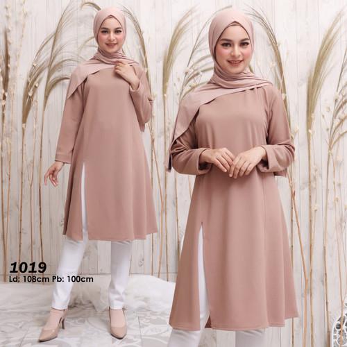 Foto Produk Baju muslim tunik kaos original tunik wanita casual dan formal new - Merah dari Hemat waktu fashion