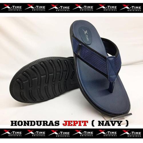 Foto Produk Sandal Casual Pria Jepit Original X-Time Honduras - NAVY, 39 dari X-Time Official Store