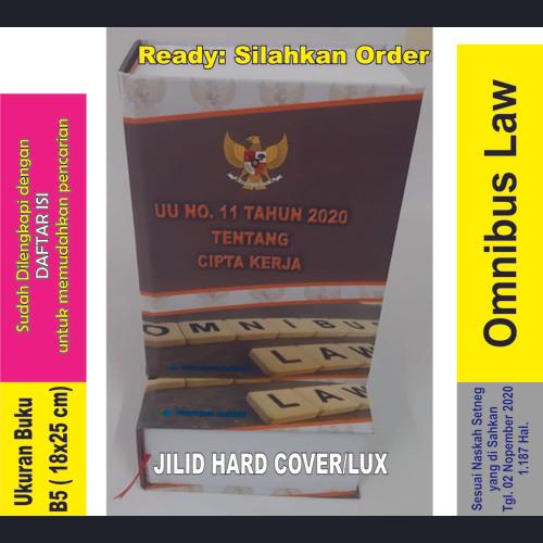 Foto Produk Buku UU No. 11 Tahun 2020 tentang CIPTA KERJA. OMNIBUS LAW dari Printing Bekasi Group