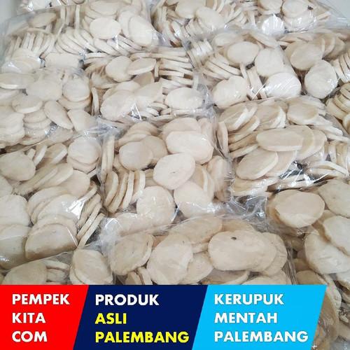 Foto Produk Kerupuk Palembang Mentah - Kerupuk Kancing Super Mentah dari Pempek Kita