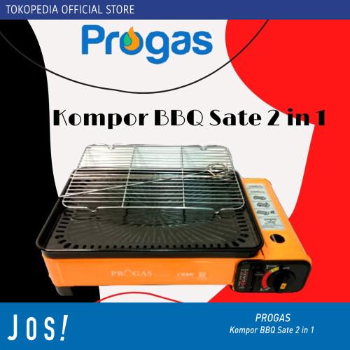 Foto Produk PROGAS KOMPOR GAS PORTABLE FUNGSI 2 in 1 BBQ DAN SATE KUALITAS SNI - Kompor Only dari J O S