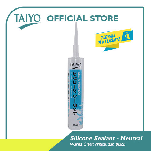 Foto Produk Taiyo Silicone Sealant Neutral 300 ml - Putih dari Taiyo Perkakas Official