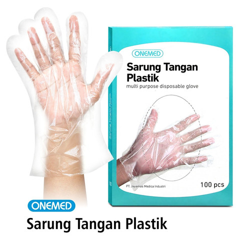 Foto Produk Sarung Tangan Plastik Onemed Box Isi 100 Pcs dari Onemed.Jakarta