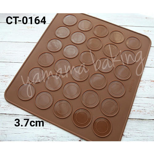 Foto Produk CT-164 Cetakan Silikon makaron macaron silicon mat dari Yamama Baking