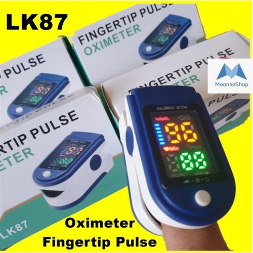 Foto Produk Oximeter Fingertip Pulse Oxymeter LK87 LCD Full Colour Oximeter LK 87 dari Moonee Shop
