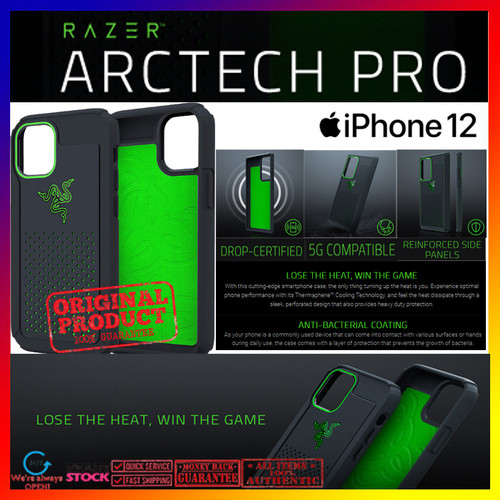Foto Produk Case iPhone 12 Pro Max/Pro/Mini Razer Arctech Pro Thermaphene Casing - 12 Pro Max dari Spigen Indonesia