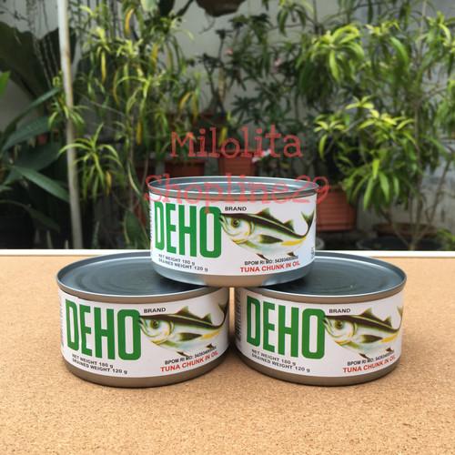 Foto Produk MURAH - Deho Tuna Kaleng 180gr / Tuna Chank in Oil dari Milolita Shopline29