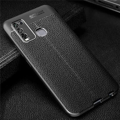 Foto Produk AUTO FOCUS CASE INFINIX HOT 9 PLAY TPU LEATHER SARUNG HP KULIT JERUK dari KAKA_Shop Official
