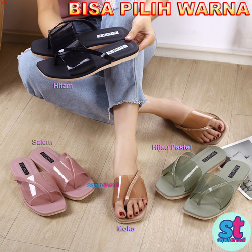 Foto Produk Sandal Wanita Jelly Flat Model Baru Transparan Balance 1207-1 BANTRANS dari Sepatu Trendi