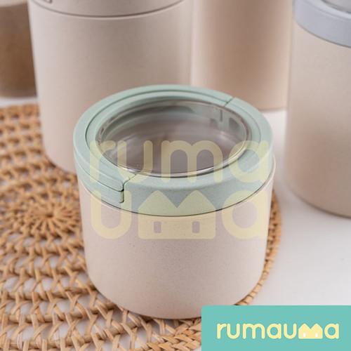 Foto Produk Toples Kopi Gula Dapur Kedap Udara - S   Bamboo Fiber Food Canister dari Rumauma