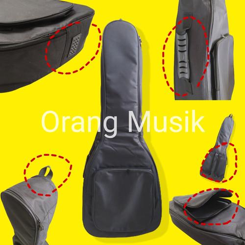 Foto Produk Semi Gigbag Gitar Akustik Jumbo Busa Tebal All Size - Softbag Softcase dari Orang Musik