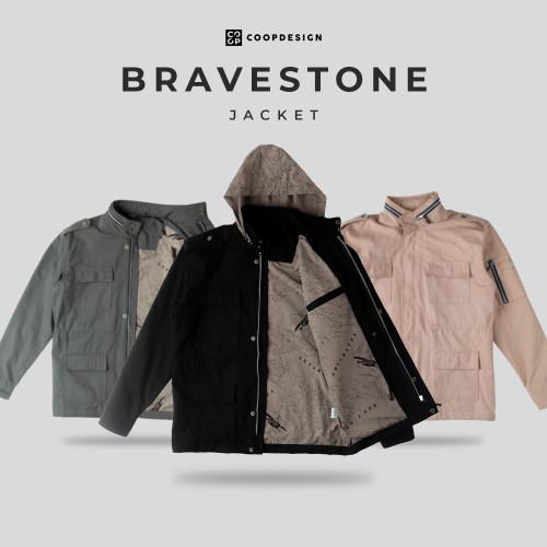 Foto Produk Coop Design - Bravestone Jaket Canvas Pria - Grey, M dari Coop Design