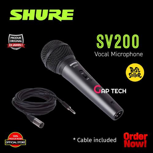 Foto Produk SHURE SV200 / SV 200 Dynamic Vocal Microphone Original dari GAP TECH OFFICIAL