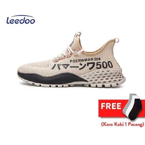 Foto Produk Leedoo Sepatu Pria Sneakers Running Spatu Casual Young Lifestyle MR120 - Cokelat, 39 dari Leedoo