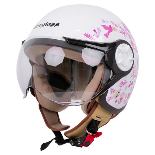 Foto Produk Cargloss YRH Helm Hijab X Ayang Cempaka Helm Half Face - White dari Helm Cargloss