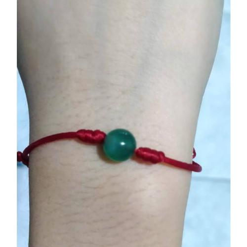 Foto Produk Gelang Agate Hijau Tali Merah dari IndChiKnotting