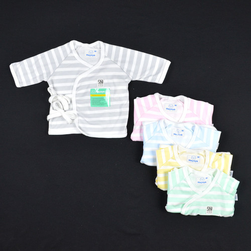 Foto Produk Baju Kimono Bayi / Kimono Bayi Laki Laki dan Perempuan 0-3 / 3-6 Bulan - 0-3 Bulan, Salur Biru dari Lanugo