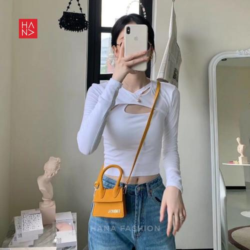 Foto Produk HanaFashion - Kimberly Long Bolero Super Crop Murah - CT128 - Putih, S dari hanafashion_shop