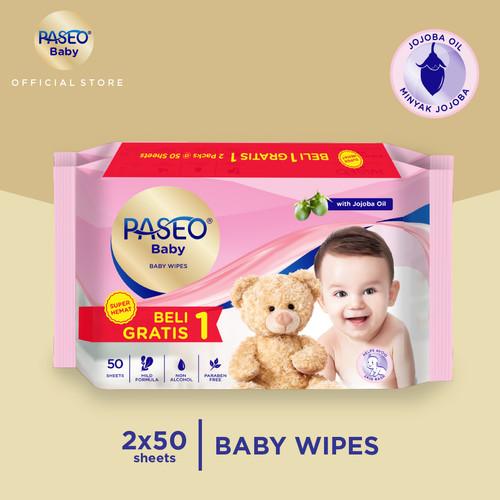 Foto Produk Paseo Baby Tissue Basah Jojoba 50 Sheets (Buy 1 Get 1 FREE) dari Paseo Tissue Official