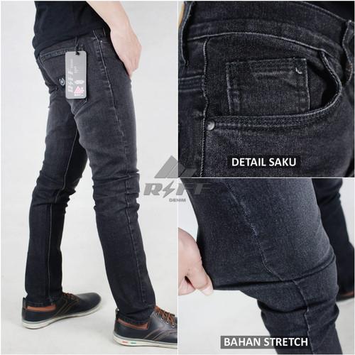 Foto Produk CELANA JEANS PRIA SLIM FIT BLACK WASH CELANA PANJANG SKINNY PREMIUM - black jazz, 27 dari putra jeans