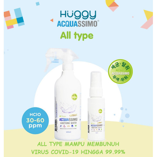 Foto Produk Acquassimo ALL TYPE Multi Purpose Non Alcohol Sanitising Water - 40ML ALLTYPE dari Huggy Baby