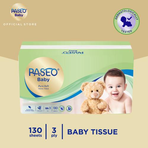 Foto Produk Paseo Baby Tissue Bayi Soft Pack 130 Sheets dari Paseo Tissue Official