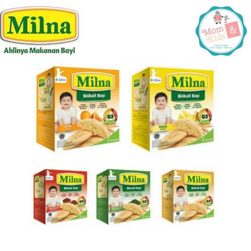 Foto Produk Milna Biskuit Bayi 6+ 130gr / Milna Biskuit Bayi 130 gr ( 6-12 bulan) - Beras Merah dari Toko Susu Mom n Kids