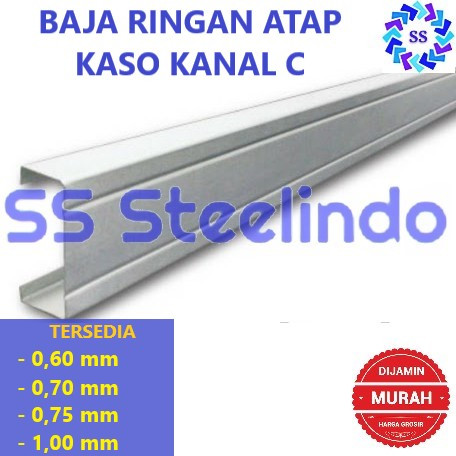 Foto Produk BAJA RINGAN ATAP KASO KANAL C - 060 dari SS Steelindo