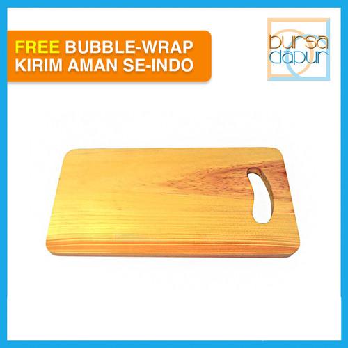 Foto Produk Talenan kayu cangkingan 34x 18 cm/ 1 pcs dari Bursa Dapur