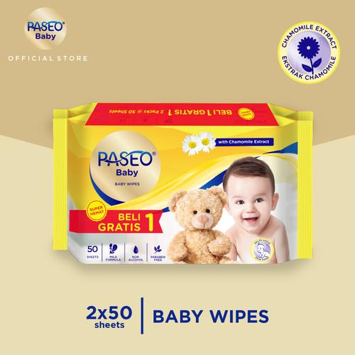 Foto Produk Paseo Baby Tissue Basah 50 Sheets (Buy 1 Get 1 FREE) dari Paseo Tissue Official