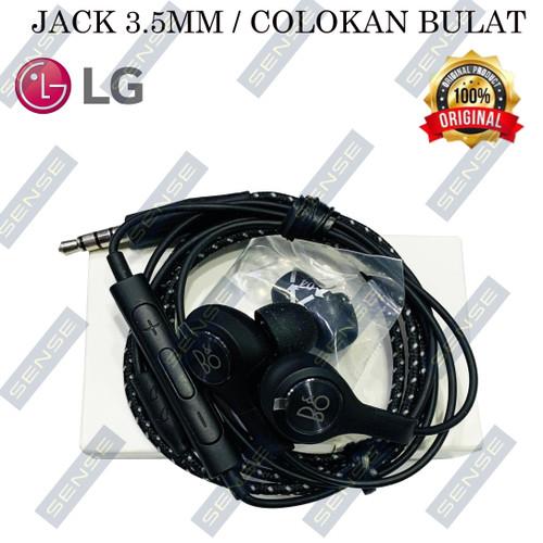 Foto Produk HANDSFREE EARPHONE HEANDSET LG V20 ORIGINAL 100% LG TUNED BY B&O PLAY - Ori New Black dari Sense mall