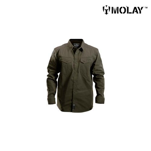 Foto Produk Kemeja Molay Velox Recon Long Sleeve - World War Olive, S dari Molay