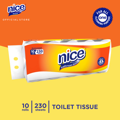 Foto Produk Nice Tissue Toilet Roll Core Emboss 230 Sheets x 10 Roll dari Paseo Tissue Official