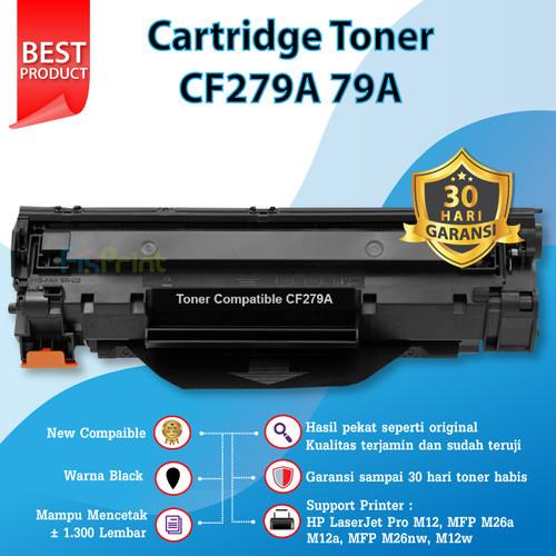 Foto Produk Compatible Cartridge Toner HP CF279A 79A Printer M12a M12w M26a M26nw - Hitam dari FixPrint Jakarta