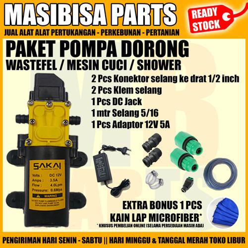 Foto Produk SET POMPA DORONG WASTAFEL / WATER HEATER / SHOWER / MESIN CUCI dari MASIBISA PARTS