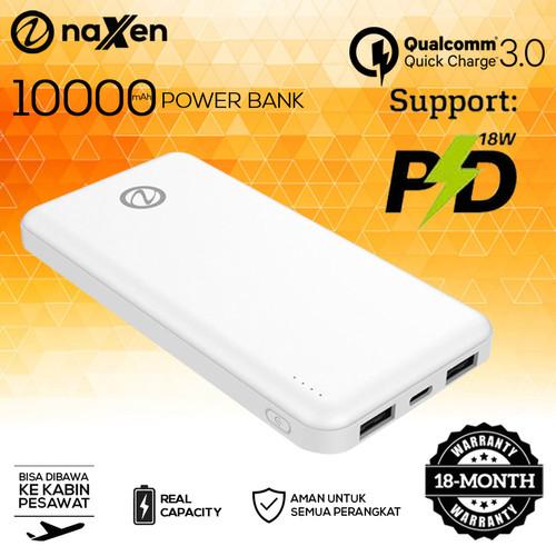 Foto Produk Powerbank Naxen 10000mAh Type C Fast Charging Simplicity - Putih dari Naxen Official Store