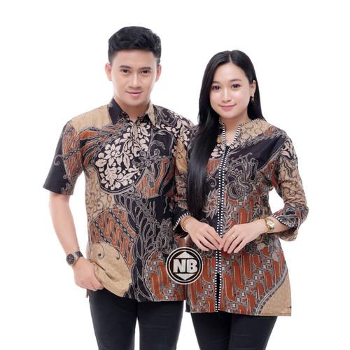 Foto Produk BATIK COUPLE BATIK KEMEJA DAN BLUS MURAH SERAGAMAN dari batik gemilang