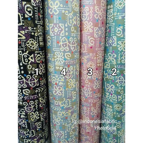 Foto Produk Kain Bahan Gamis Tunik Baju Katun Jepang motif KJ200 - nomor4 dari Toko Kain Grosir