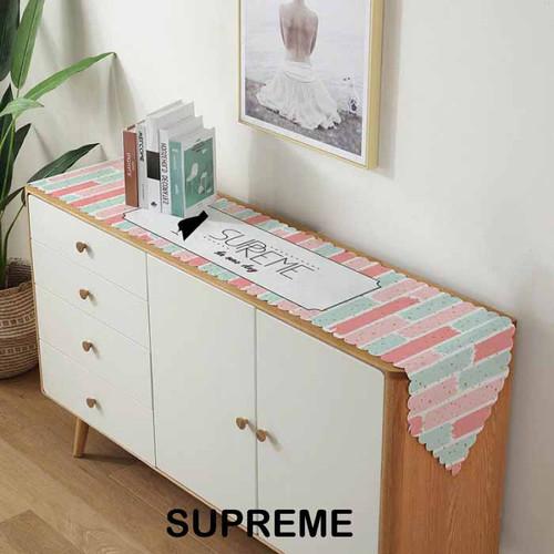Foto Produk Velvet Table Runner Taplak Meja Makan Tamu Panjang Berudru Pastel - Supreme, Medium dari Le Carre