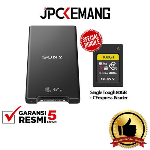 Foto Produk Sony MRW-G2 CFexpress Type A/SD Memory Card Reader GARANSI RESMI - Tough 80GB dari JPCKemang