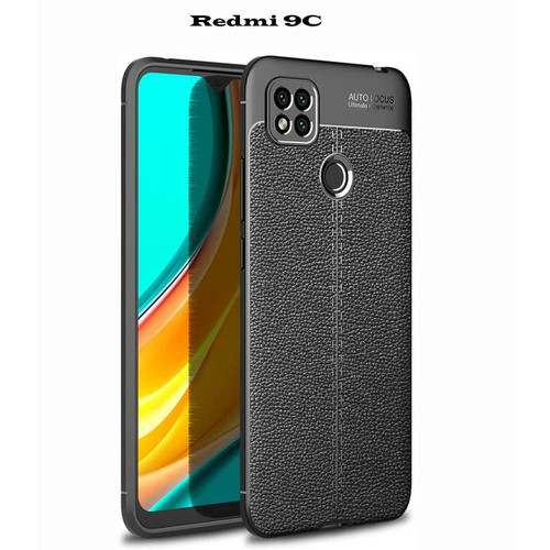 Foto Produk AUTO FOCUS CASE REDMI 9C TPU LEATHER SARUNG HP KULIT JERUK dari KAKA_Shop Official