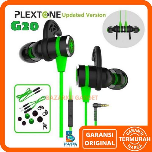 Foto Produk Earphone PLEXTONE G20 In-Ear Gaming Headset Stereo Bass Headphone - Merah dari Bazarku