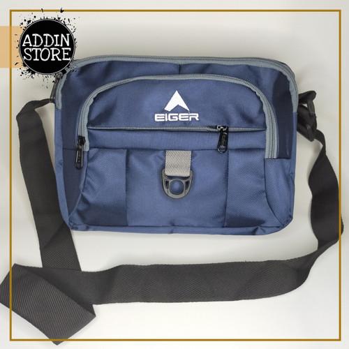 Foto Produk Sling Bag EIGER Tas Selempang EIGER MURAH Tas Pria Waistbag EIGER 043 - Biru dari Addin Official