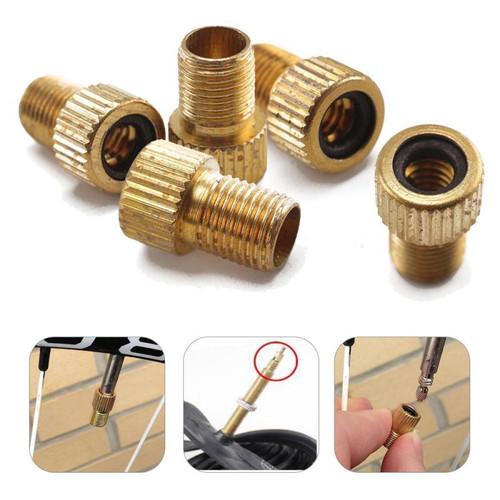Foto Produk ADAPTOR Pentil Sepeda / Sambungan Konektor Pompa Sepeda Pentil Presta - Silver dari Price Priority