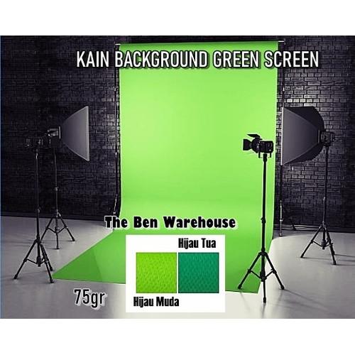 Foto Produk Kain Background Green Screen / Kain Spunbond Hijau 75gr dari The Ben Warehouse