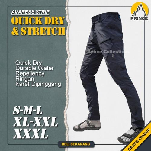Foto Produk Celana Gunung Waterproof Panjang Pria Outdoor Hiking Quickdry Stretch - Navy, S dari Prince Collections